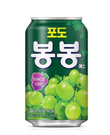 Suco Coreano Haitai Bonbon - UVA VERDE 340ml (Com Pedacinhos de Fruta)