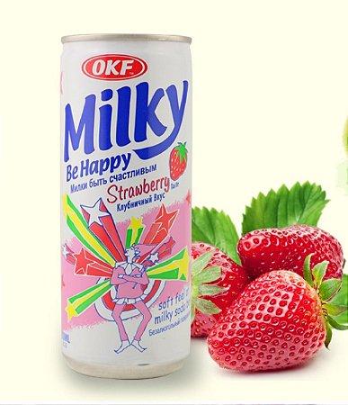 Bebida Coreana Milky (Lácteo) Morango - 250mL