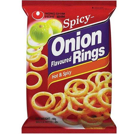 Salgadinho Coreano Onion Rings HOT (Levemente Picante) - Cebola 40g