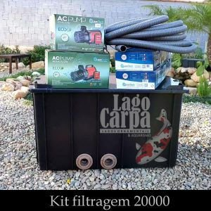 Filtra até 20.000 - Lago Carpa