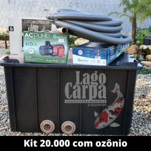 Filtra até 20.000 com Ozônio Lago Carpa