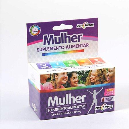 Suplemento de vitaminas e minerais indicados para Mulheres até os 50 anos  500Mg - 60 Cápsulas