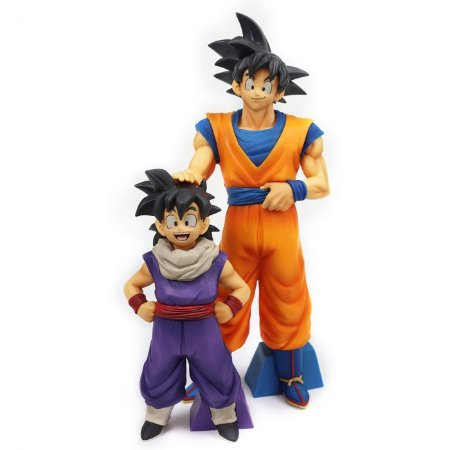 FIGURE DRAGON BALL Z - GOKU - EKIDEN OUTWARD + GOHAN JOVEM - EKIDEN RETURN TRIP