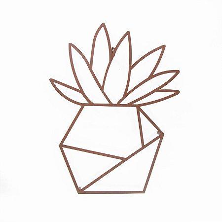 Escultura de Parede Vaso de Planta 1