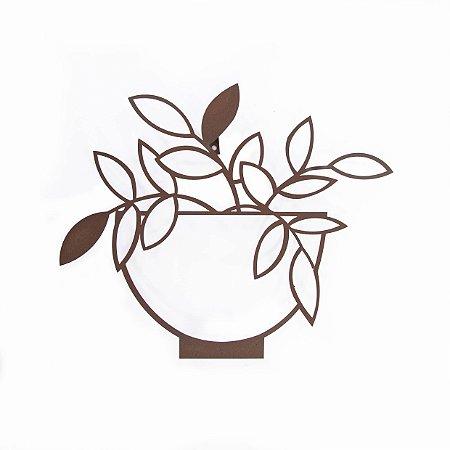 Escultura de Parede Vaso de Planta 3