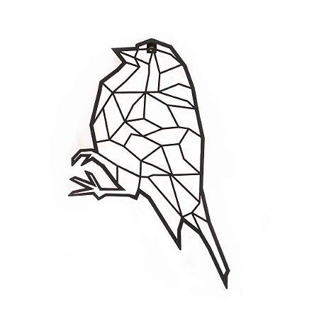 Escultura de Parede Origami Geométrico Pássaro Aço Galvanizado
