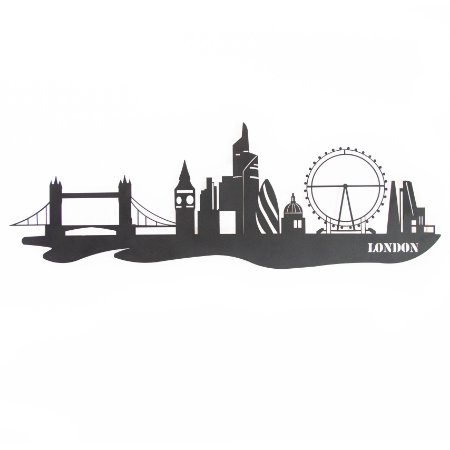 Escultura de Parede Skyline Londres