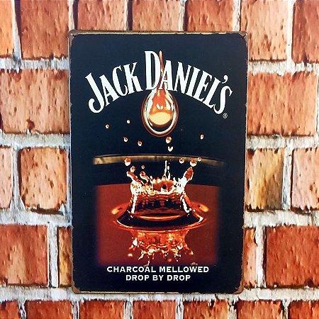 Placa em Metal Vintage de Jack Daniel's 30cm x 20cm Jack7