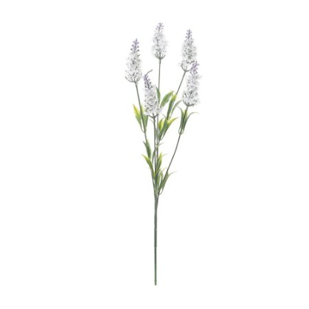 Pick com 5 Galhos Brancos de Lavanda 47 cm
