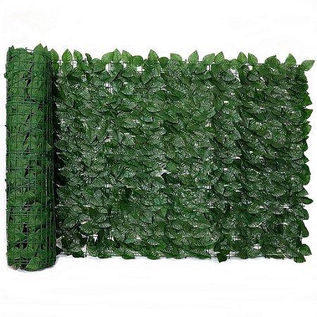 Muro Inglês com Folhas de Ficus Artificial 3 m x 1 m