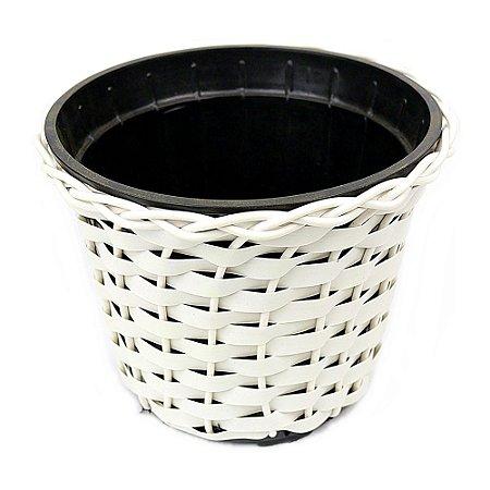 Vaso Redondo nº 3 Branco 13,5 cm x 15 cm