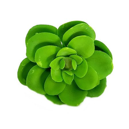 Mini Suculenta em Silicone Verde