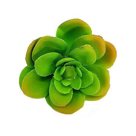 Mini Suculenta em Silicone Verde Claro