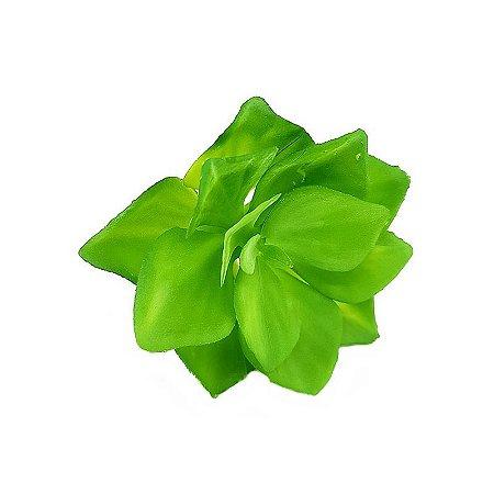 Suculenta Rosa de Pedra em Silicone Verde