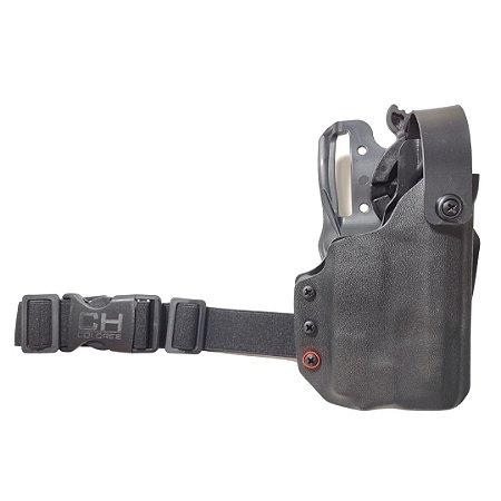 COLDRE KYDEX OWB 2R - EXTERNO – SIG SAUER M18 + LANTERNA (OLIGHT/SUREFIRE/STREAMLIGHT)