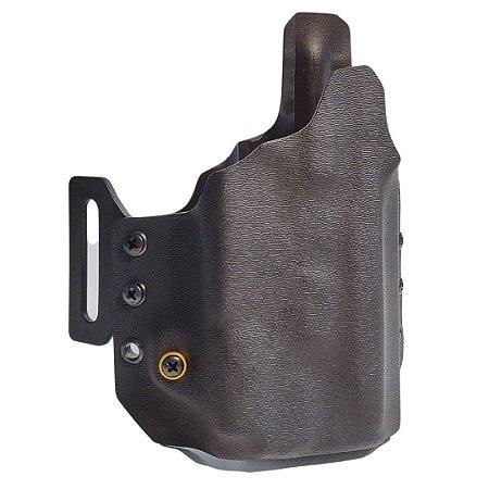 COLDRE KYDEX OWB 1R - EXTERNO – SIG SAUER – P320 (FULL M17) (COMPACT CARRY M18) + LANTERNA (OLIGHT/SUREFIRE)