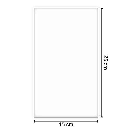 25un Plástico PP para Mangás polipropileno  15cm x 25cm x 6mm