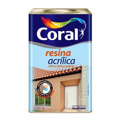 Resina Acrílica Coral 18L