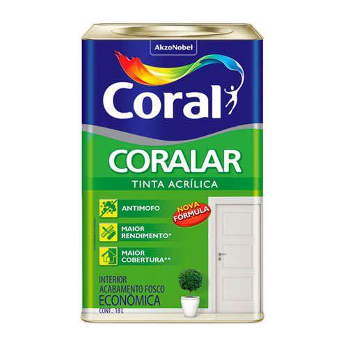 Tinta Acrílica Coral – 18L – Branco
