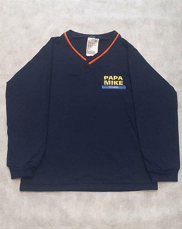 Camiseta Manga Longa marinho, Colégio Papa Mike