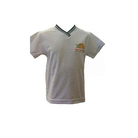 Camiseta manga curta branca Theodora