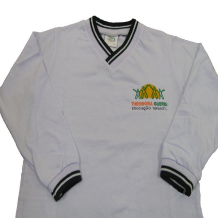 Camiseta manga longa branca Theodora Guerin