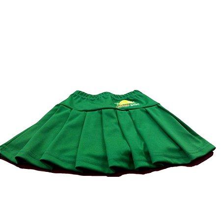 Saia prega com shorts embutido em helanca, Theodora Guerin