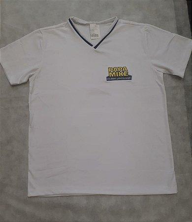 Camiseta Manga Curta branca, Colégio Papa Mike