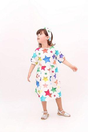 Vestido Taci Estrelas Malha