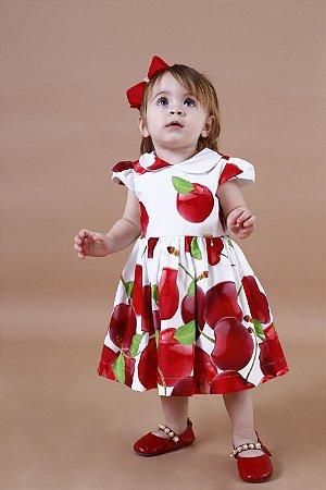 Vestido Taci Cereja Barrado Baby