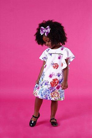 Vestido Floral Colorido Casual