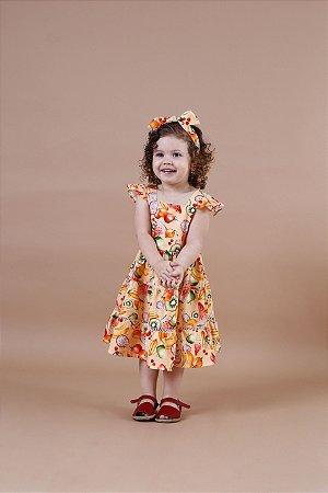 Vestido Taci Frutas Renda Palito