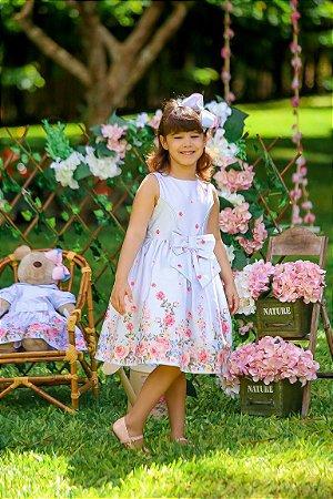 Vestido Taci Floral de Rosas Festa