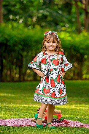 Vestido Taci Melancia Casual