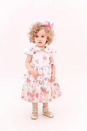 Vestido Taci Carrossel Barrado Baby