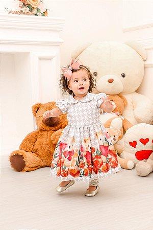 Vestido Taci Pied-de-Poule Ursos Baby