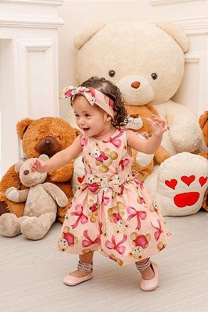 Vestido Taci Ursos Baby