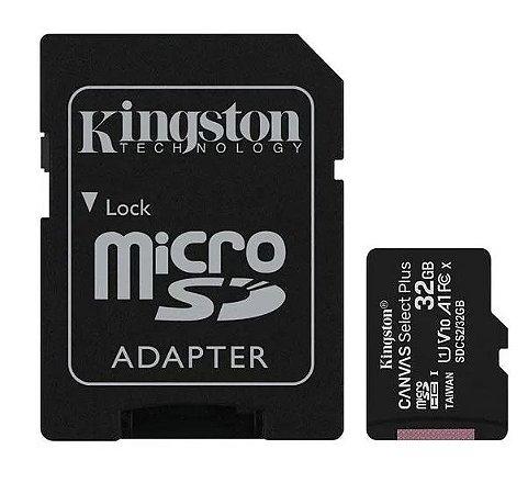 CARTÃO DE MEMORIA CLASSE 10 32GB MICRO SD + ADAPT. KINGSTON SDCS2/32GB