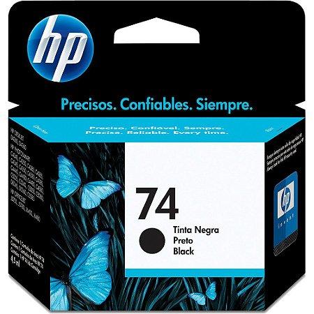 CARTUCHO HP 74 CB335WB PRETO