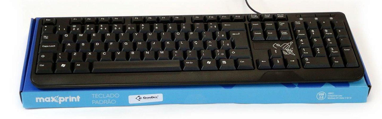 TECLADO USB PADRAO PRETO MAXPRINT 608145