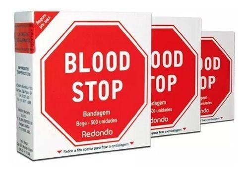 Curativo Redondo Bege C/500 - Blood Stop