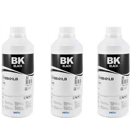 03 Litros Tinta INKTEC para EPSON Mod EU1000-01LB cor preta