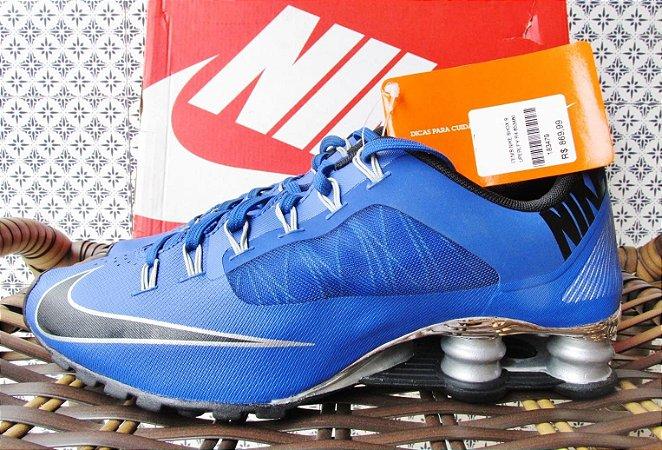Tênis quatro molas azul Nike Shox Superfly R4 | Tamanhos 37, 38, 39 e 40
