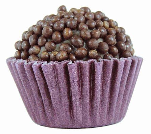 Brigadeiro Gourmet Crispy Preto e Chocolate Ao Leite Belga - Receita Tradicional - Caixa Com 30 Unidades