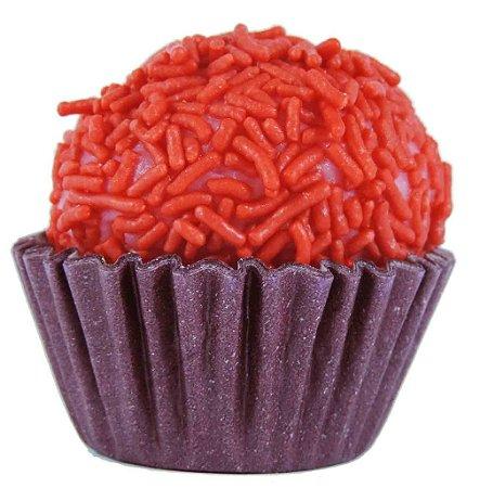 Brigadeiro de Frutas Vermelhas Gourmet - Zero Lactose - Vegano - Light - Caixa Com 30 Unidades