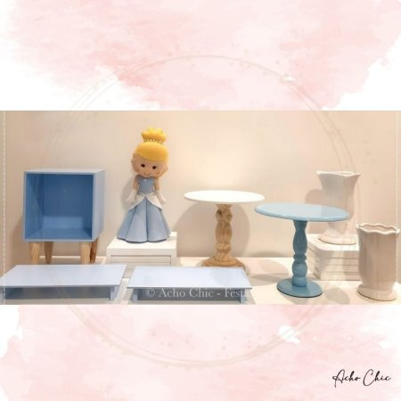 Kit Cinderela Mini Table - Locação