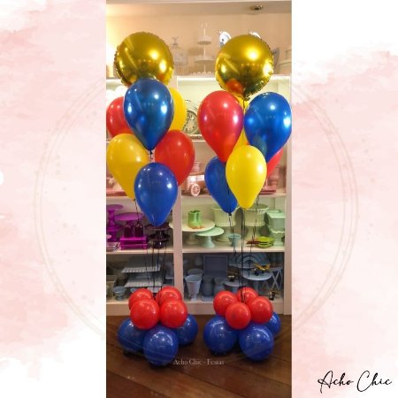 Dupla Bouquet Balões (Cores personalizáveis)