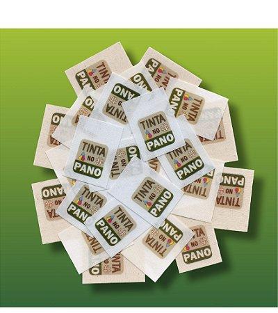 1 LOTE de Etiquetas Personalizadas em Algodão Branco, Natural ou Cru