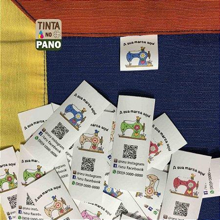 1000 Etiquetas Personalizadas em Nylon Resinado