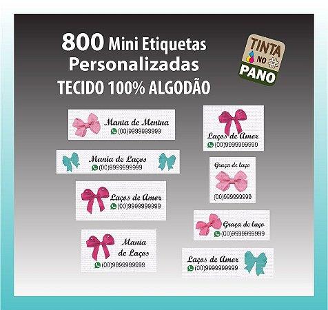 800 Mini Etiquetas Personalizadas Para Laços E Artesanatos